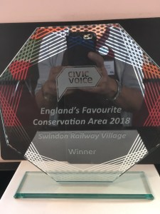 The Civic Voice Trophy - The Railway Village Swindon: England's Favourite Conservation Area 2018