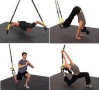 TRX Suspension ropes are a rope system that allow you to use gravity and your own body weight safely to develop strength, balance, flexibility and core stability simultaneously.