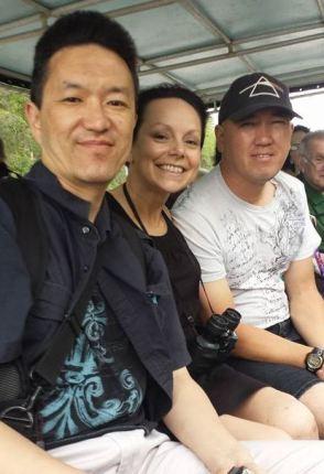 Me, Amy, and Han on the Bayou