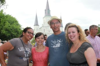 Petra, Amy, Charles, Sharon in New Orleans