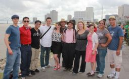 Amy and our whole gang in New Orleans