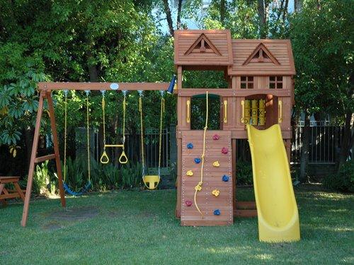 refurbished redwood play sets