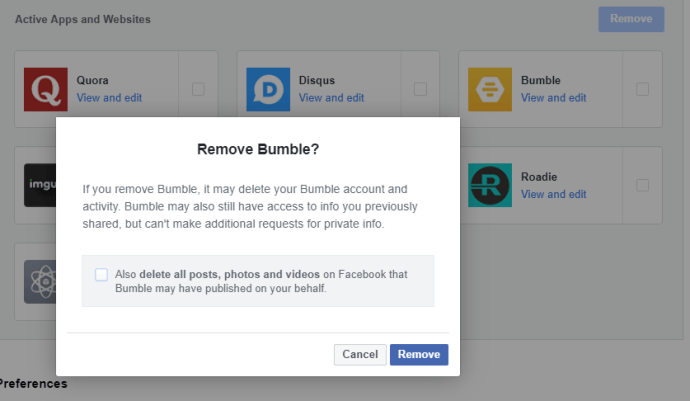 Remove Bumble
