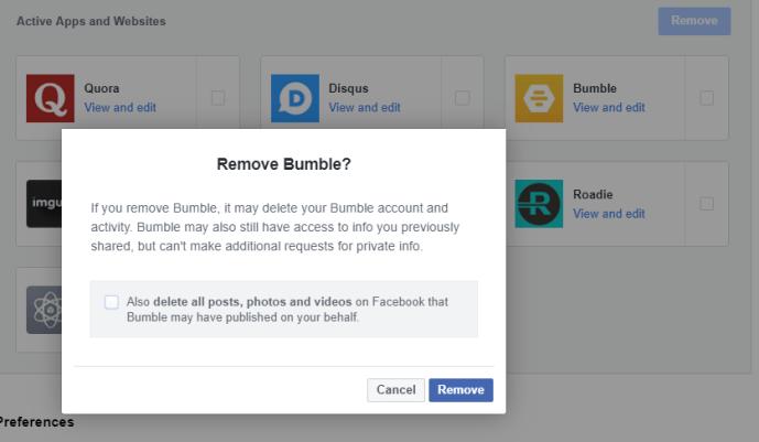Remove Bumble