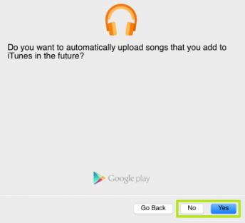 option for the songs