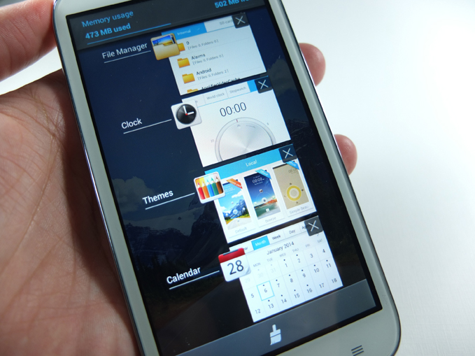 Huawei Ascend G610 Review - Multitasking, Task Manager