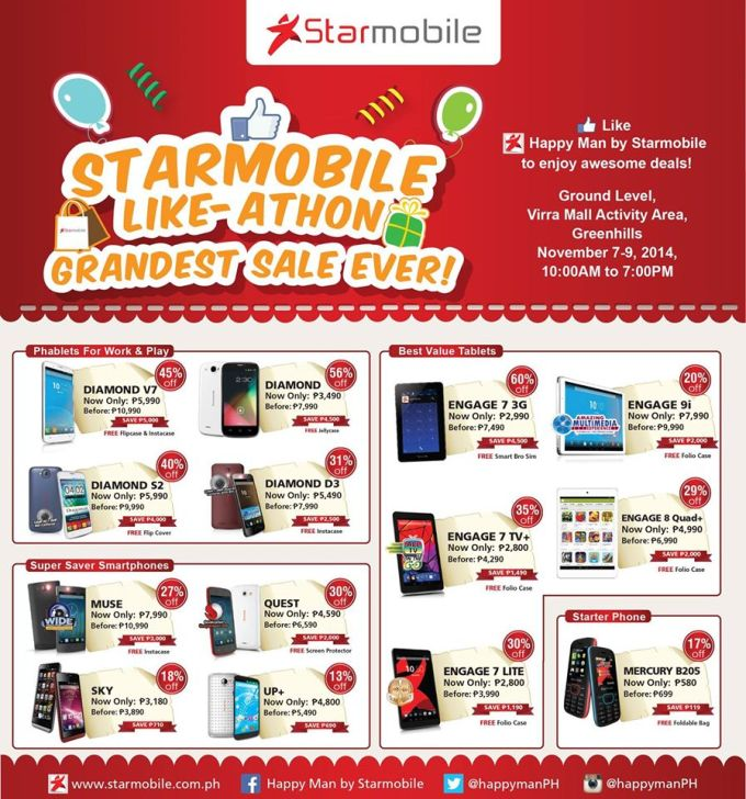 Starmobile 3-Day Sale