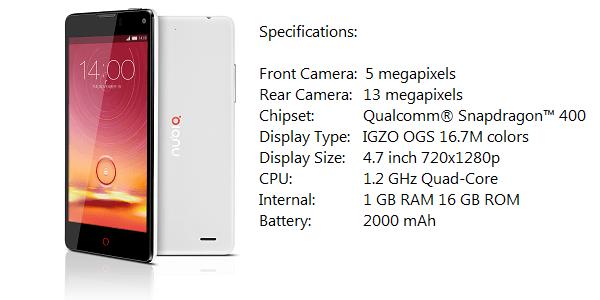 Z5S mini1 specs