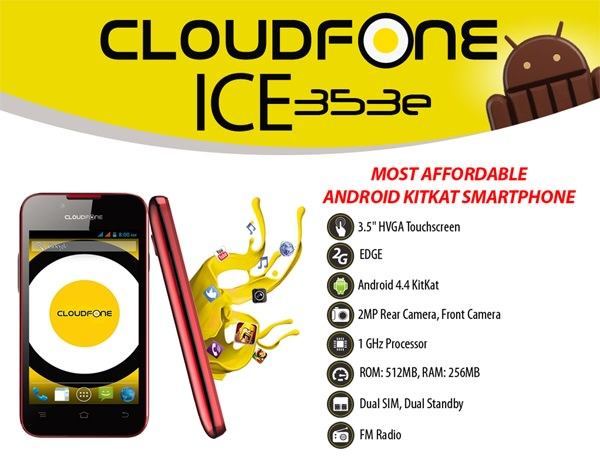 Cloudfone Ice 353e product sheet