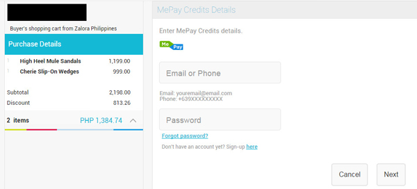 MePay Payment Page