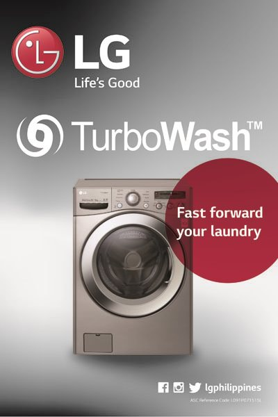 LG TurboWash Washing Machine Poster