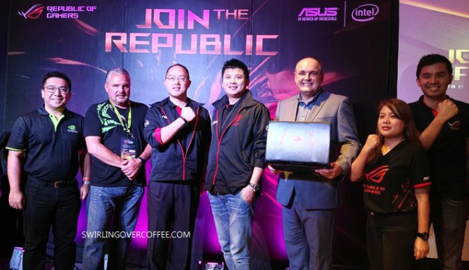 Executives from ASUS Philippines, NVIDIA, and Intel Philippines at the ASUS #JoinTheRepublic event.