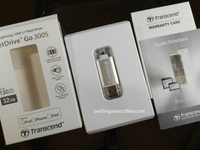 Transcend JetDrive Go 300S, external flash drive, USB drive for iPhone
