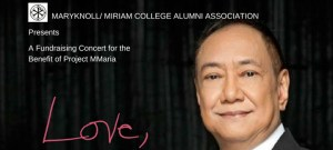 "The Maryknoll/Miriam College Alumni Association (MMCAA) presents ""Love, Basil"", a post-Valentine's concert featuring OPM and inspirational balladeer and one of People Asia's 2017 People of the Year, Basil Valdez."