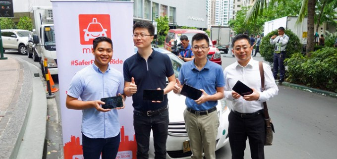 Huawei will provide several thousand custom in-cab tablets to taxi-hailing platform Micab. L-R: Eddie Ybanez (Micab Co-founder and CEO), Andy Zhao (Huawei Tablet and PC Global GTM Director), 'Gavin' Mingang Yi (Huawei Tablet General Manager), and Henry Hsiao (Huawei Device Marketing and Service Account Manager).