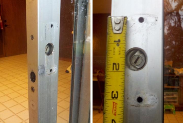 1970s alum sliding patio door handles
