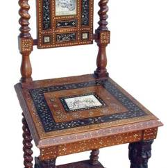 Unusual Chair Legs Director Price Village Antiques With Mother Of Pearl Inlay Sphinx Classical Scenes