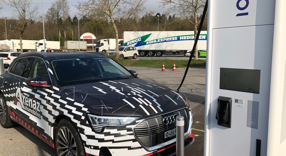 Audi e-tron charging at IONITY