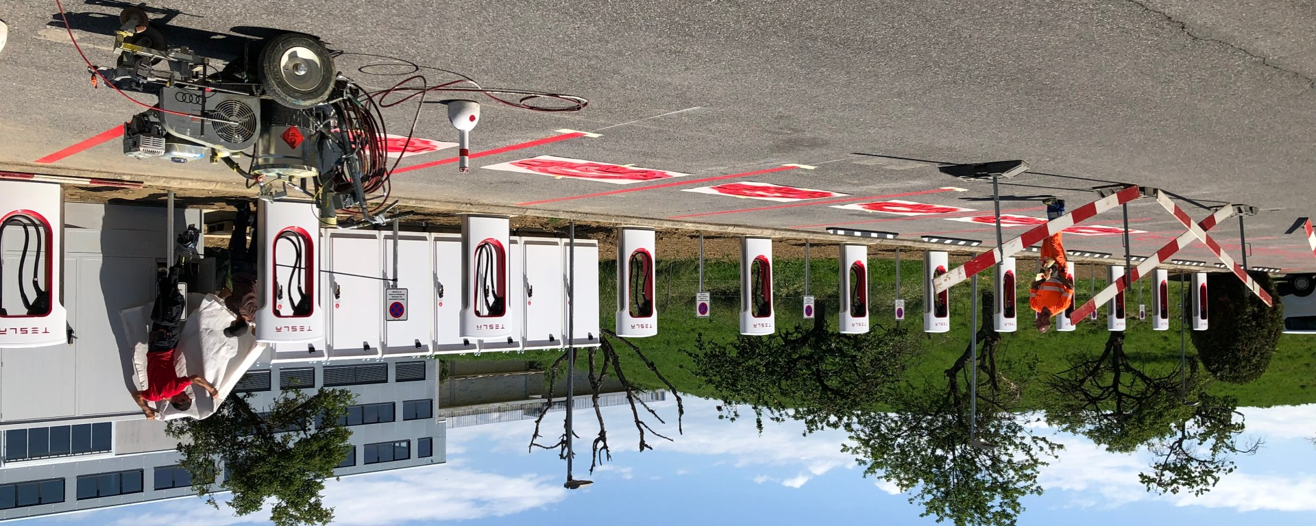 New Tesla Supercharger in Bussigny (Lausanne)
