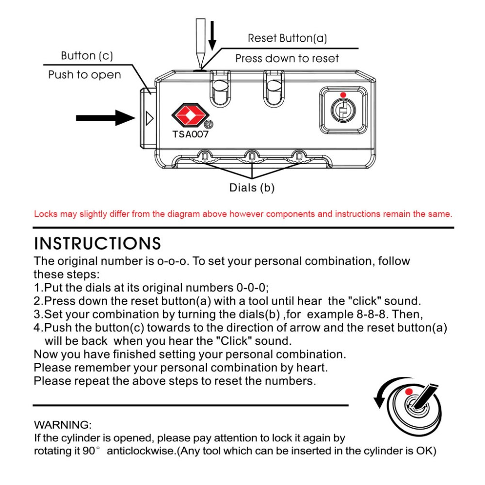 medium resolution of tsa lock instructions