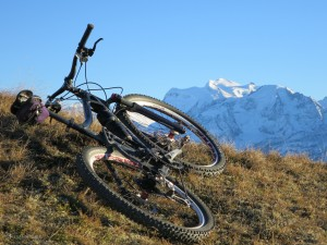 Biking above Verbier, November 18, 2015