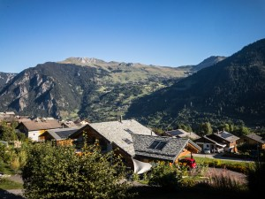 The view of Verbier from our new place in Bruson.