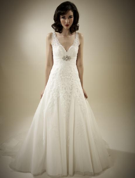 Hochzeitskleid Corsage Glitzer  Friseur