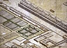 Plan axonométrique de Saint-Pétersbourg (archives d'Etat de la Marine Russe)