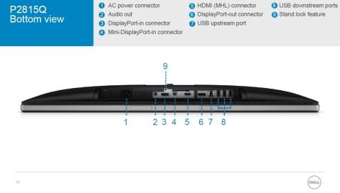 Dell P2815Q vi