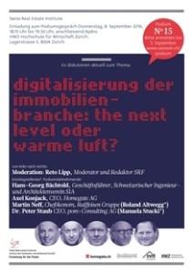 Einladung Swissrei Podiumsdiskussion