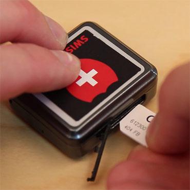SIM Karte einschieben