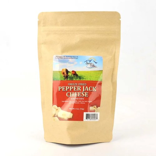 4 oz Pepper Jack Freeze Dried Cow Cheese