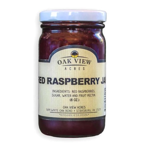 8 oz Red Raspberry Jam from Oak View Acres