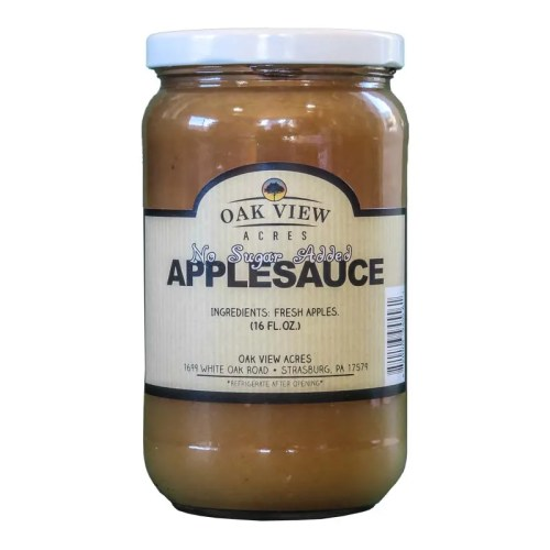 16 oz No Sugar Applesauce from Oak View Acres