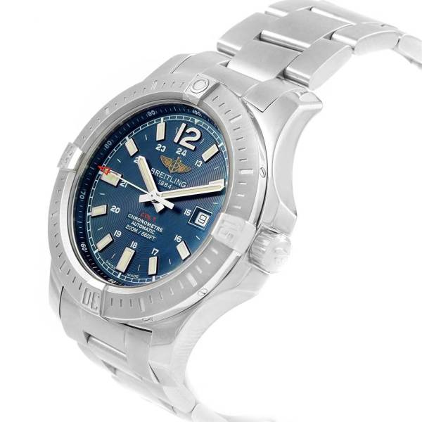 Breitling Colt Blue Baton Dial Automatic Steel Mens Watch
