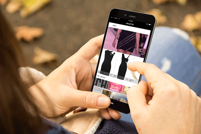 Promoting luxury shopping online app