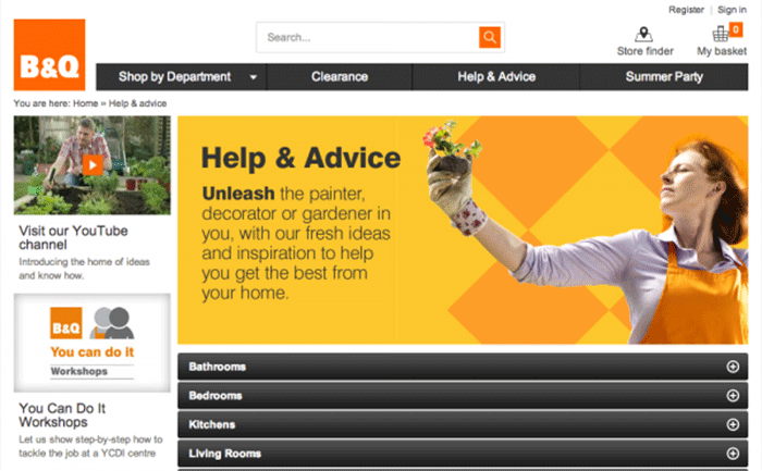 Brands get content marketing B&Q