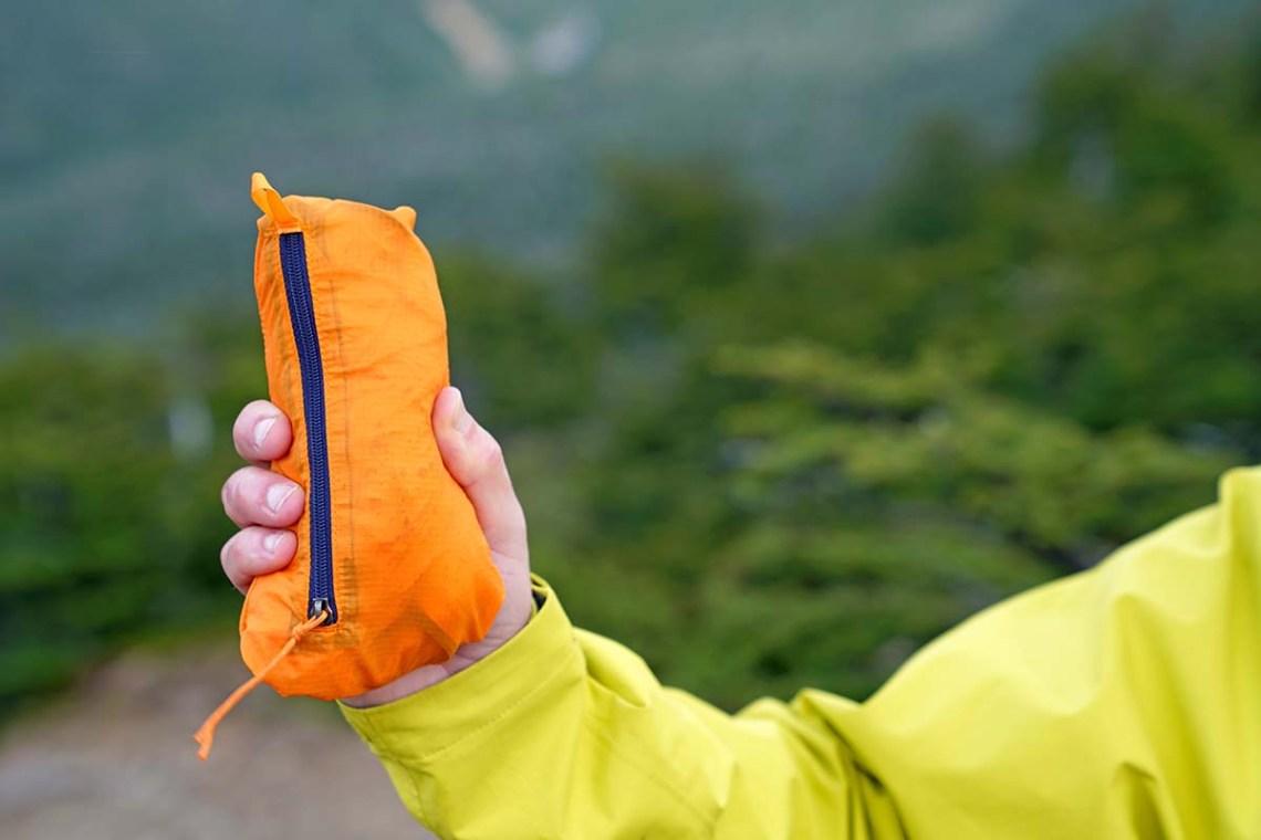 Patagonia Houdini windbreaker jacket (packed size)