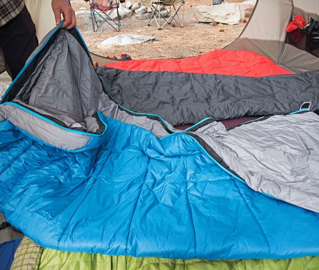 Camping Sleeping Bag Zipper Using The Full Length Zipper On The North Face Dolomite
