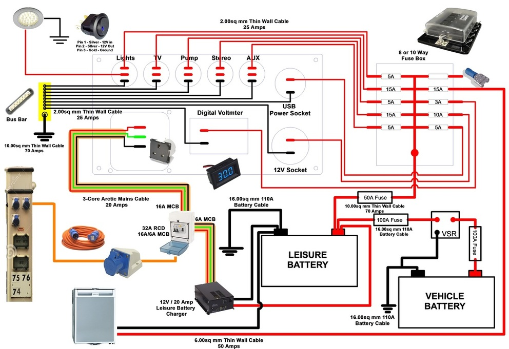 12v Wiring Diagram Wiring Wiring Diagram And Schematics