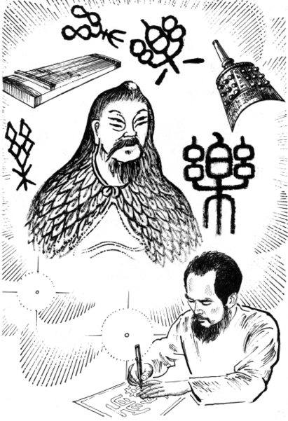 Creator of Ancient Chinese Character Cang Jie & Master Shen Wu