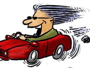 Bilgalning, dock inte i svart bil