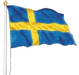 Stolt svensk flagga