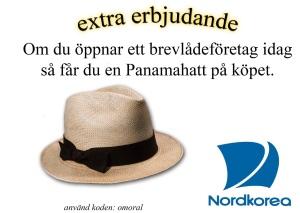 Panamahatt på köpet