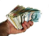 En handfull pengar