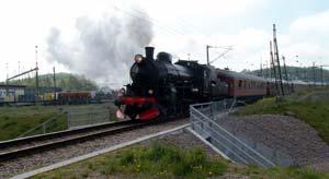 Ångtåg på Åstorps station
