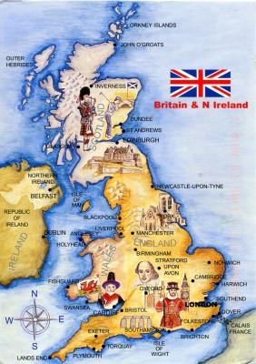 Karta övcer Storbritannien
