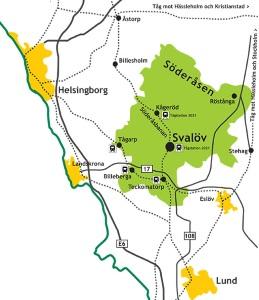 Karta över Svalöv