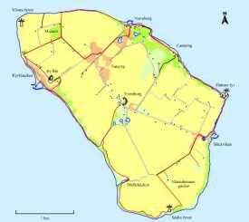 Karta över Ven