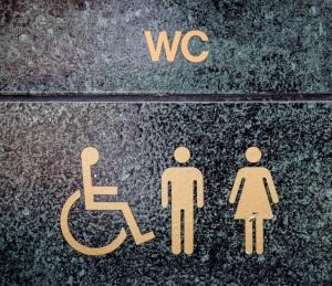 Toalettskylt